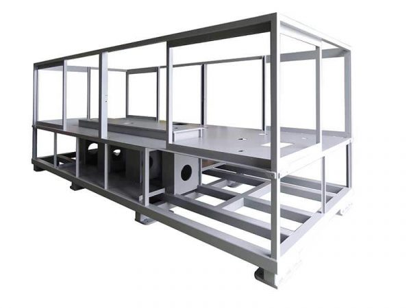 Mechanically welded frame made by DMA, designer and manufacturer of special and assembly machines